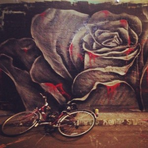 Graffiti and bike
